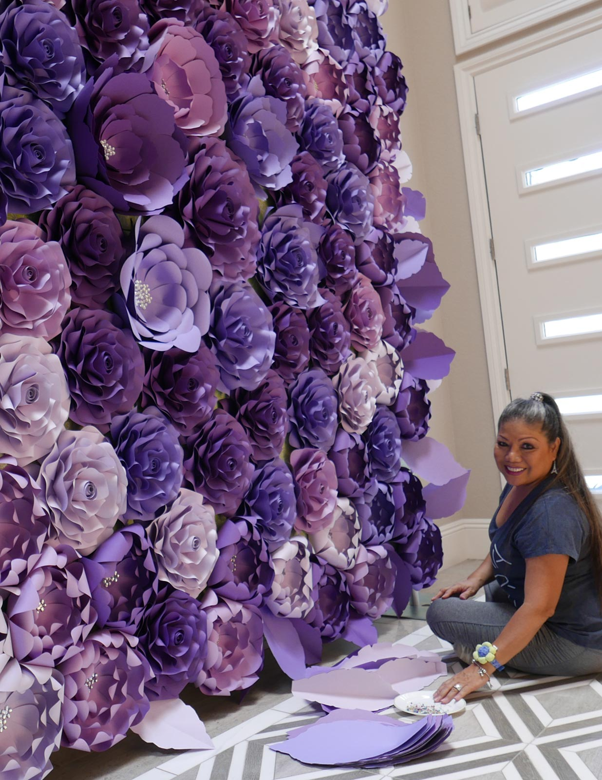 Carolines Paper Blooms Las Vegas Paper Flower Wall Backdrops And Art 03 A Catered Affair Las Vegas