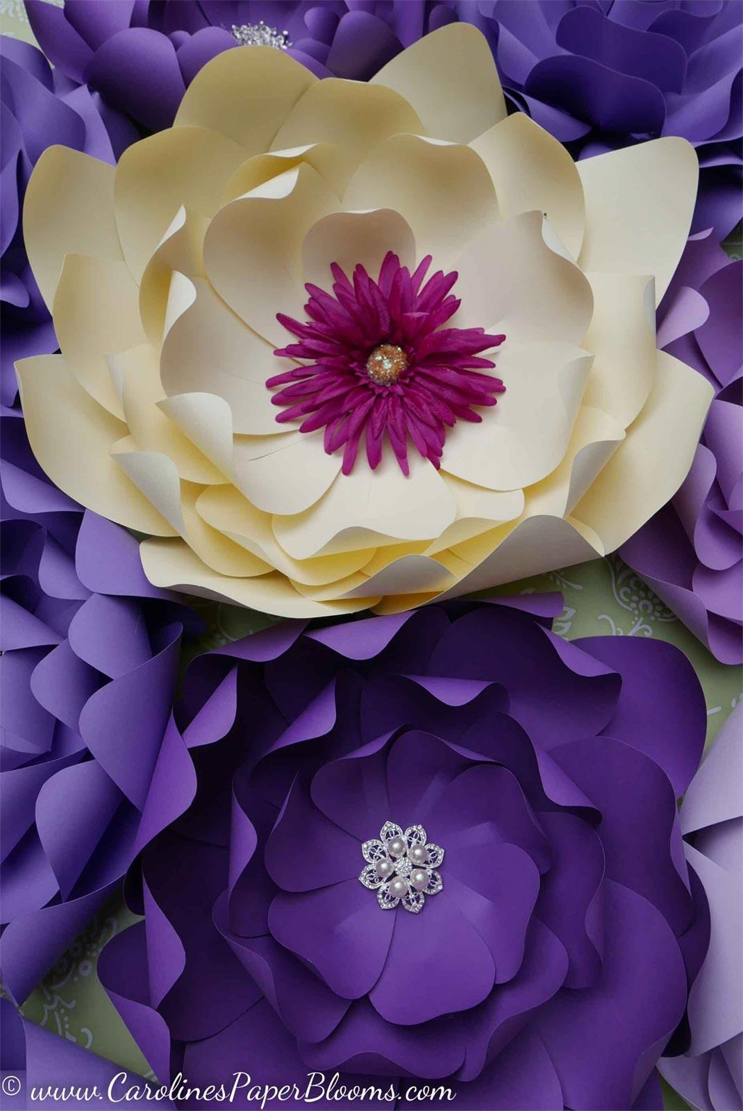 Carolines Paper Blooms Custom Paper Flower Backdrops And Artwork In Las Vegas A Catered Affair Las Vegas